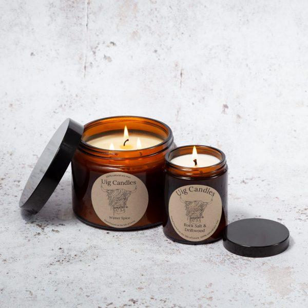 Uig Candles Amber Jars