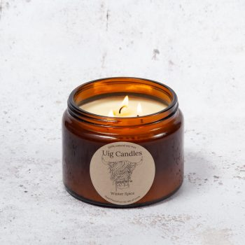Uig Candles Three Wick Amber Jar
